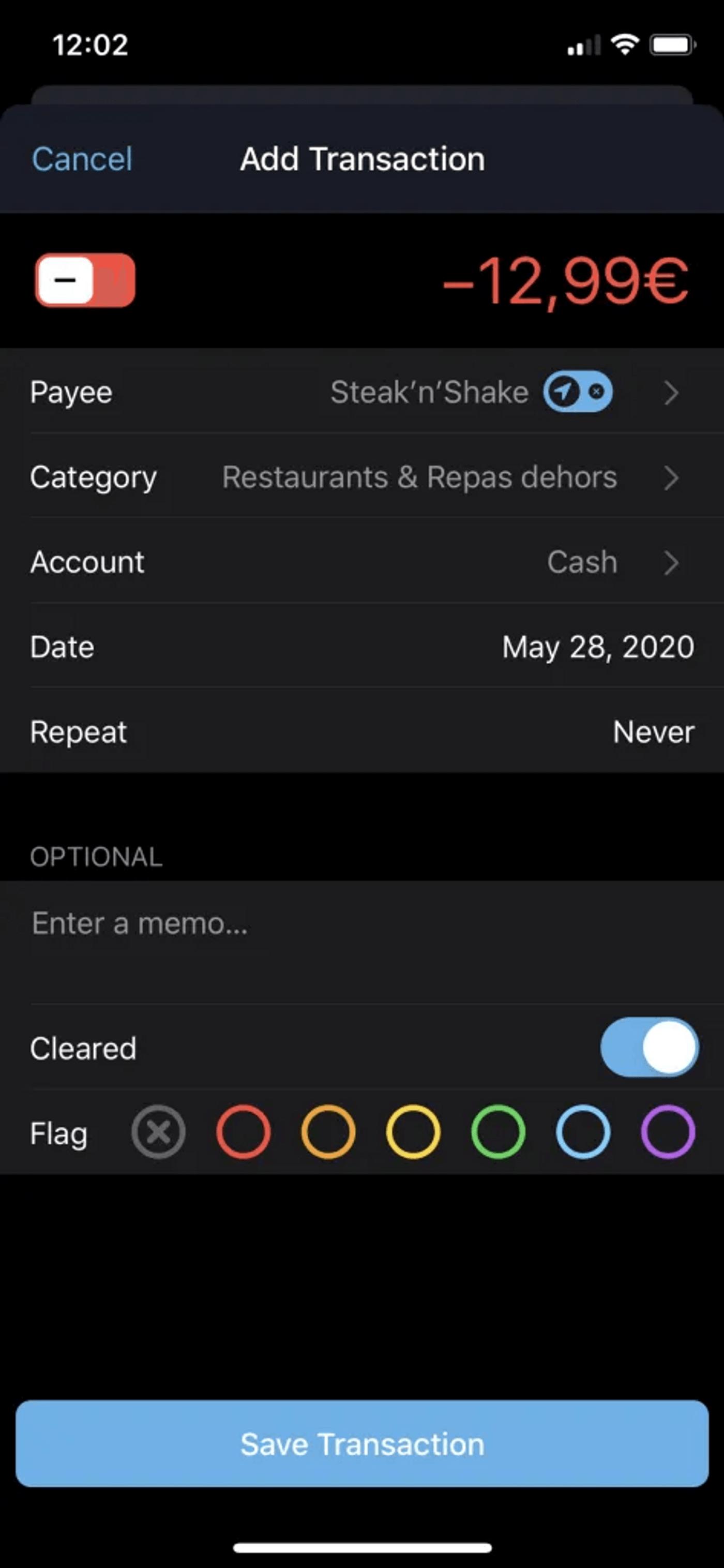 Capture d'écran de l'application mobile You Need A Budget