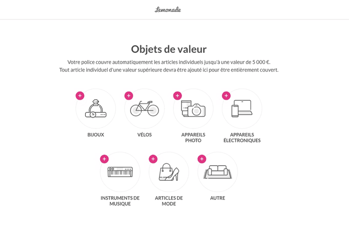 Screenshot objets de valeur Lemonade