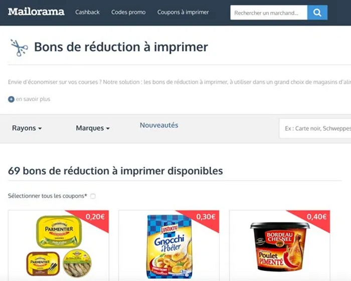 Mailorama site coupon de réduction à imprimer