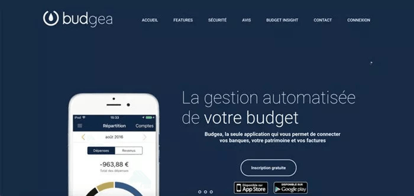 Capture écran logiciel budget Budgea