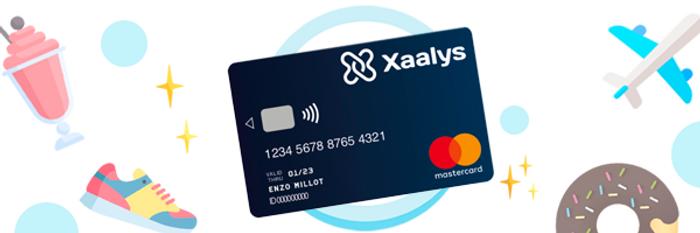 Image de la carte bancaire pour ados de Xaalys