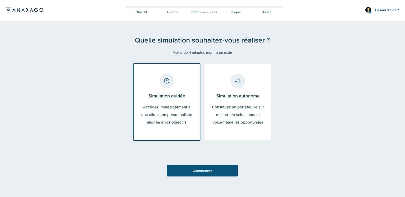 Screenshot Anaxago simulation