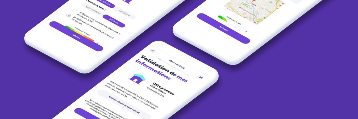 Interface mobile néoassurance Leocare