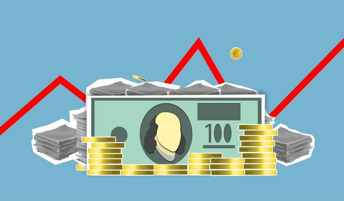 Illustration de pièces et billets investis