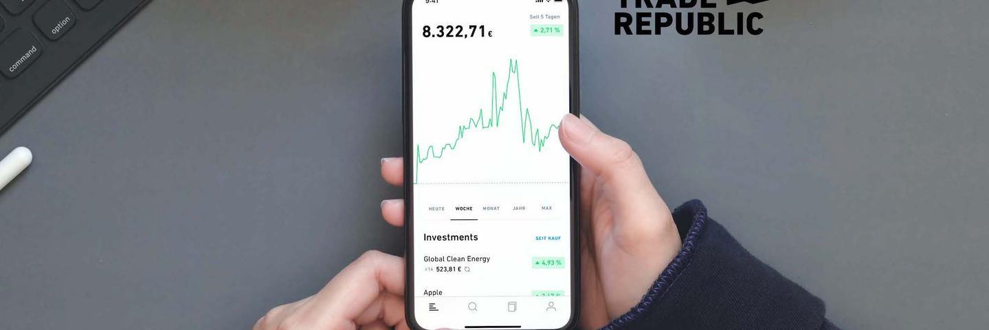 Mockup Trade Republic avis application smartphone