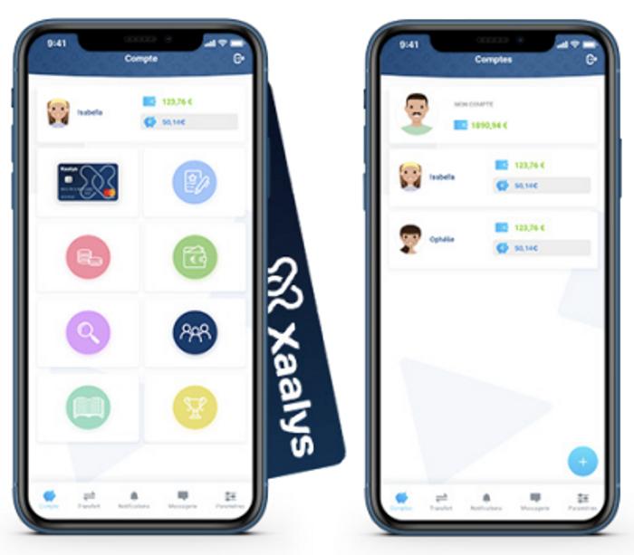 Mockup application mobile Xaalys