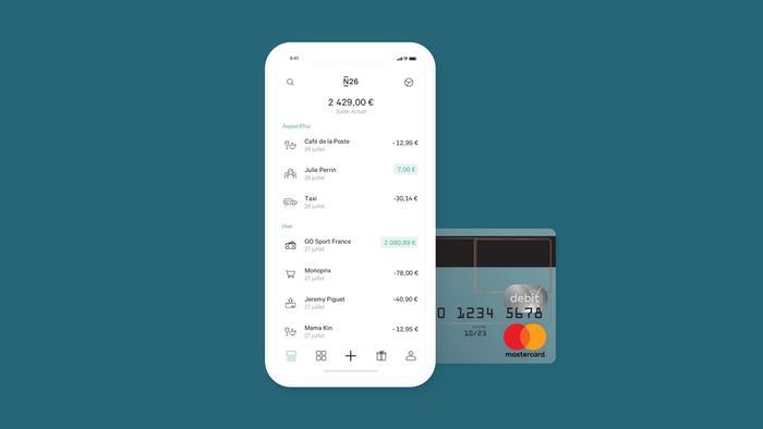 Interface et carte banque en ligne gratuite N26