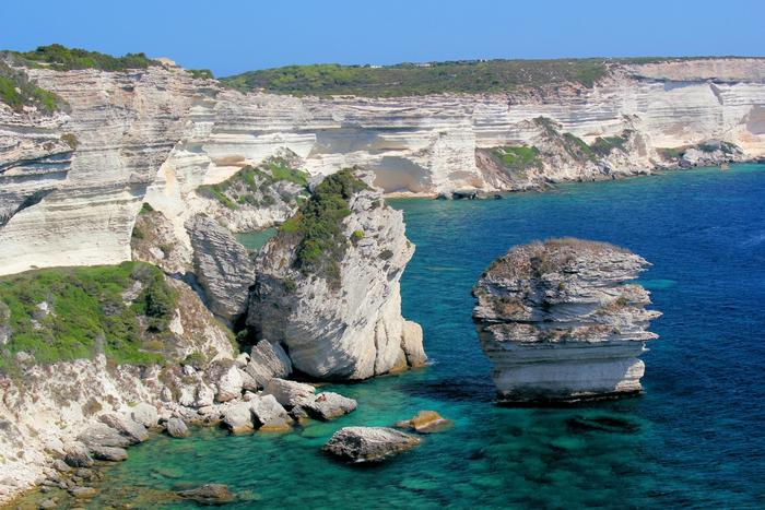 La falaise de Bonifacio en Corse