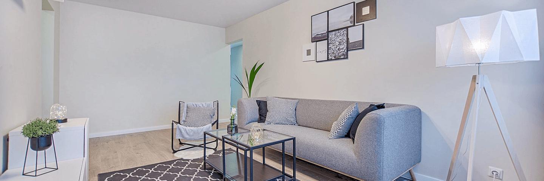 L'intérieur d'un appartement loué en LMNP