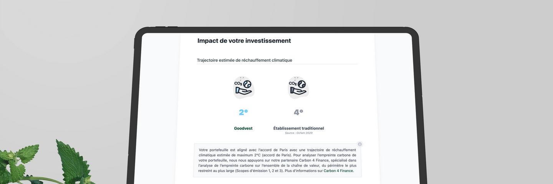 Mockup application assurance vie Goodvest