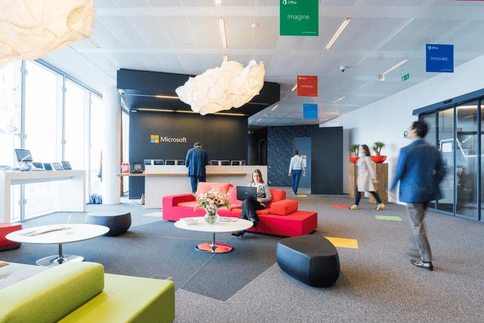 Des bureaux loués pour Microsoft