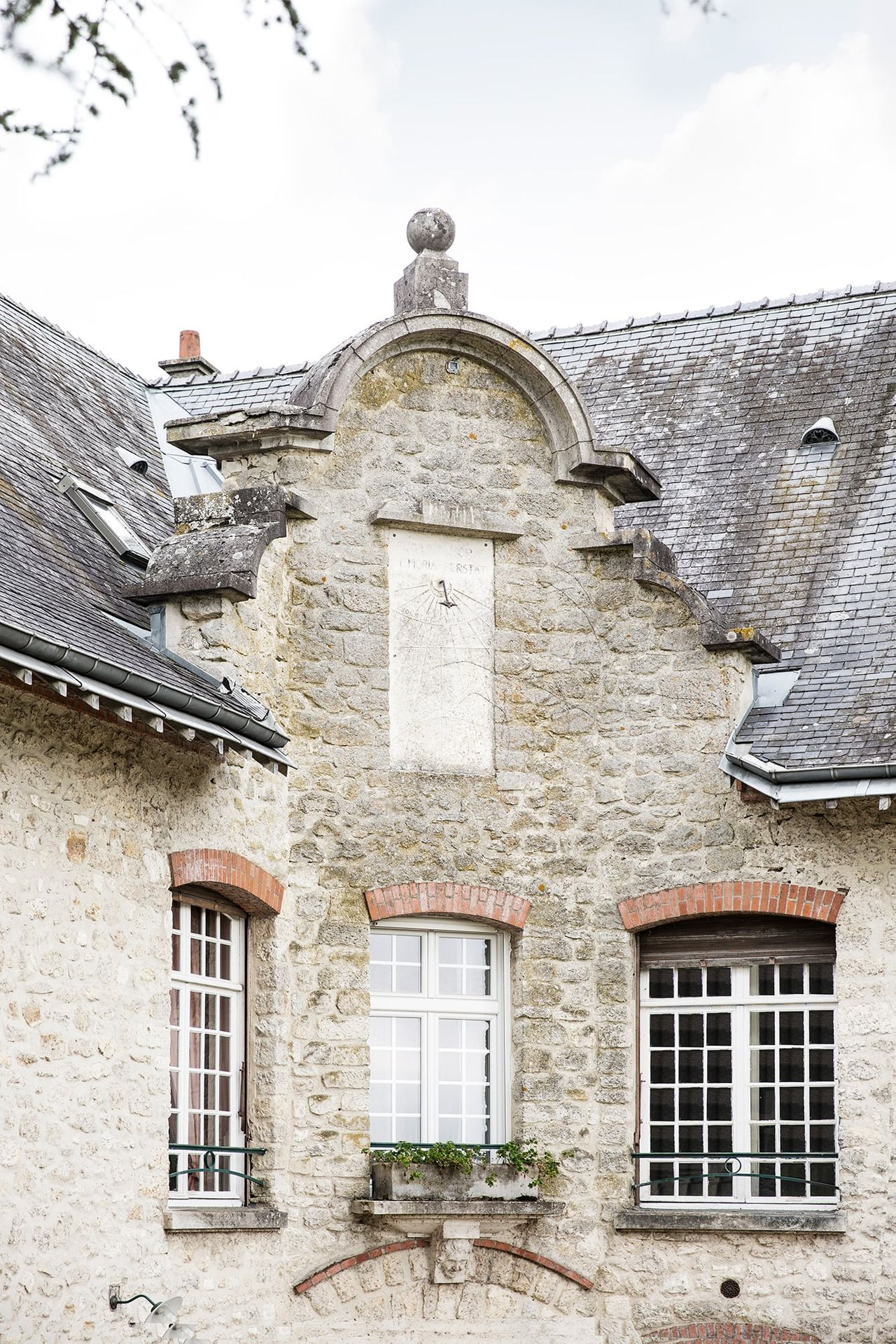 Detail view of Chateau Boll in France