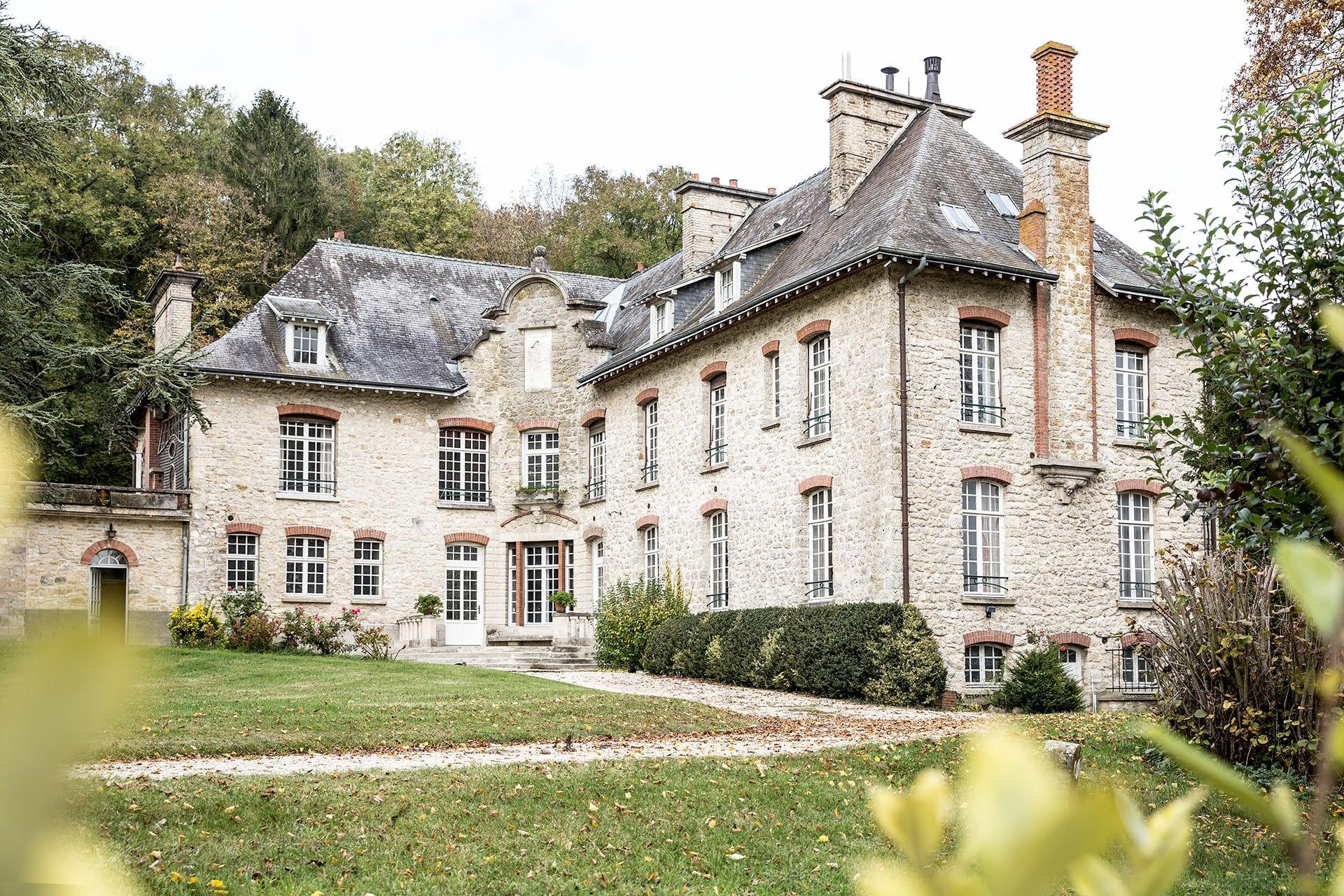 Garden view of Chateau Boll