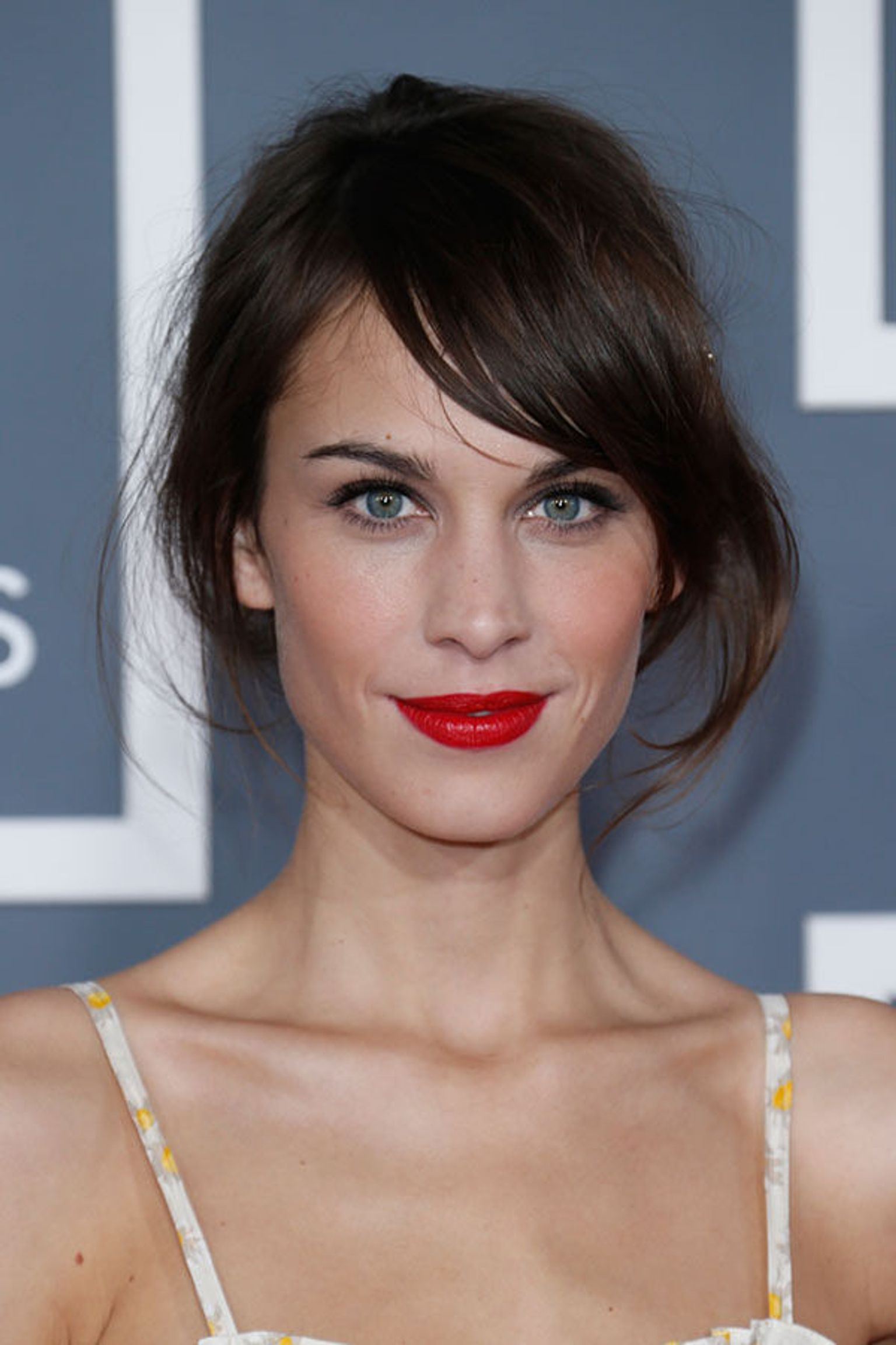 Alexa Chung is described as being part of the features face group
