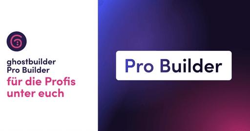 ghostbuilder Pro Builder Blog Beitrag Banner