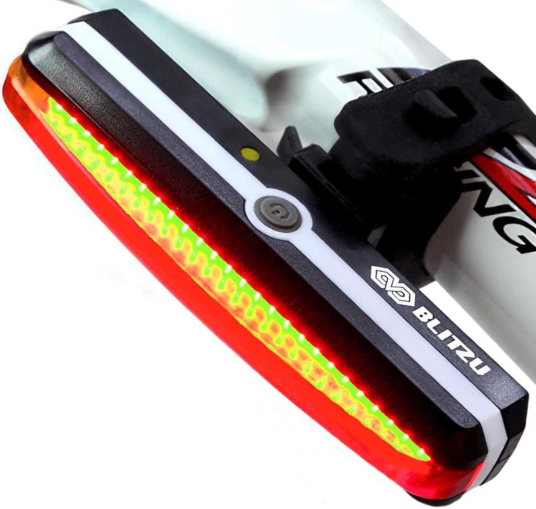 Blitzu bike light for bikes and helmets