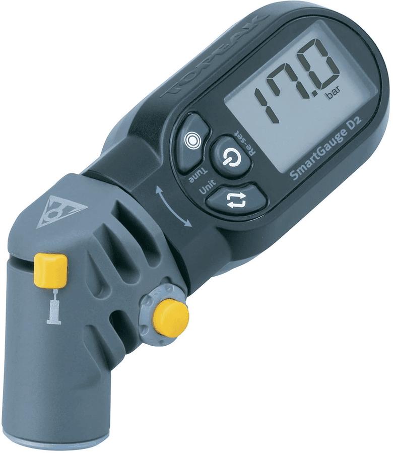 Topeak SmartGauge D2 for measuring tire pressures