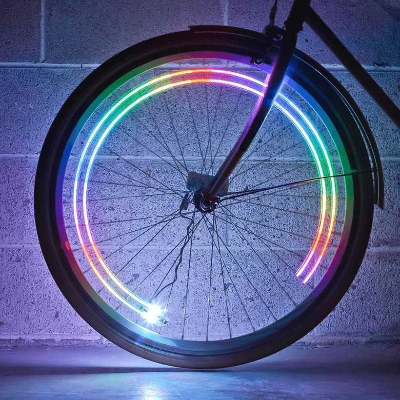 Ultrabright bike wheel light