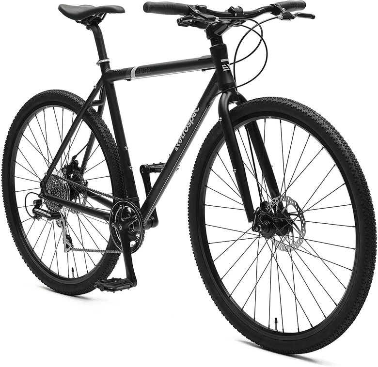 Front view of the gravel bike from Retrospec
