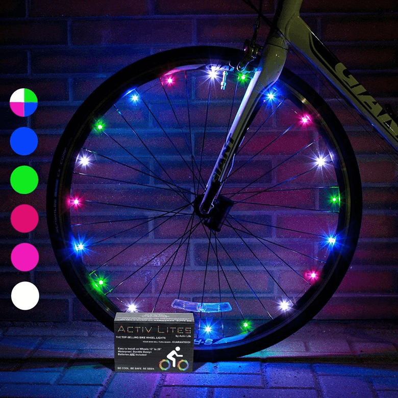Battery powered bike wheel lights from Activ Life