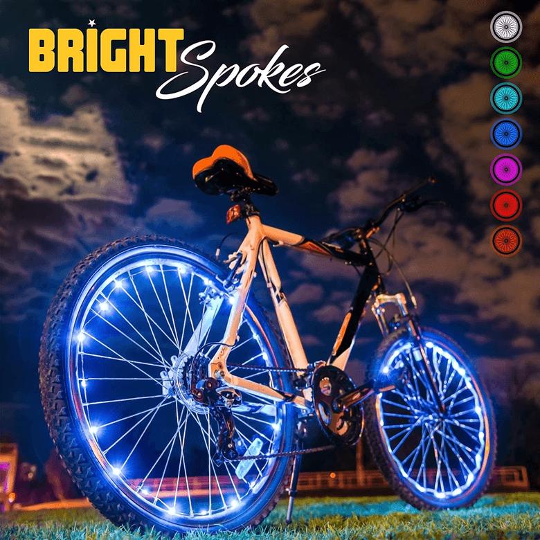 LED spoke lights for bikes from Bright Spokes
