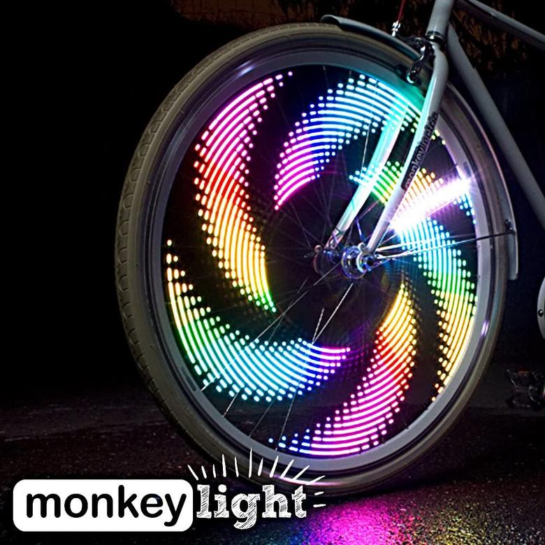 Bike wheel lights from Monkey lights