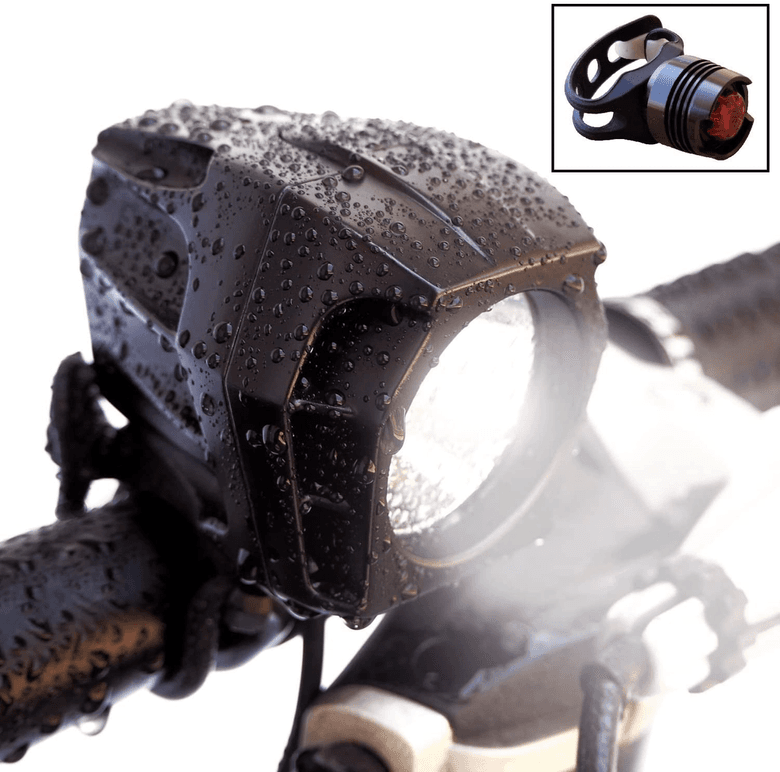 Waterproof Rechargeable headlight that can also be mounted on helmet