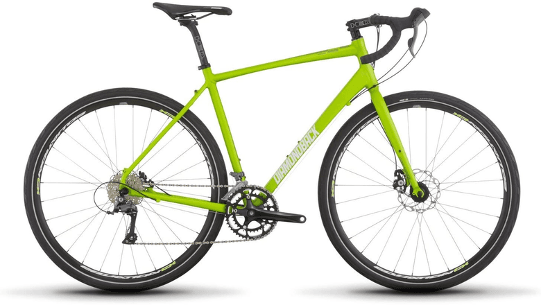 Side view of the Diamondback Haanjo 2 bicycle