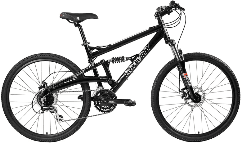 Gravity 2020 FSX 1.0 Dual Full Suspension Mountain Bike with Disc Brakes and Aluminum Frame