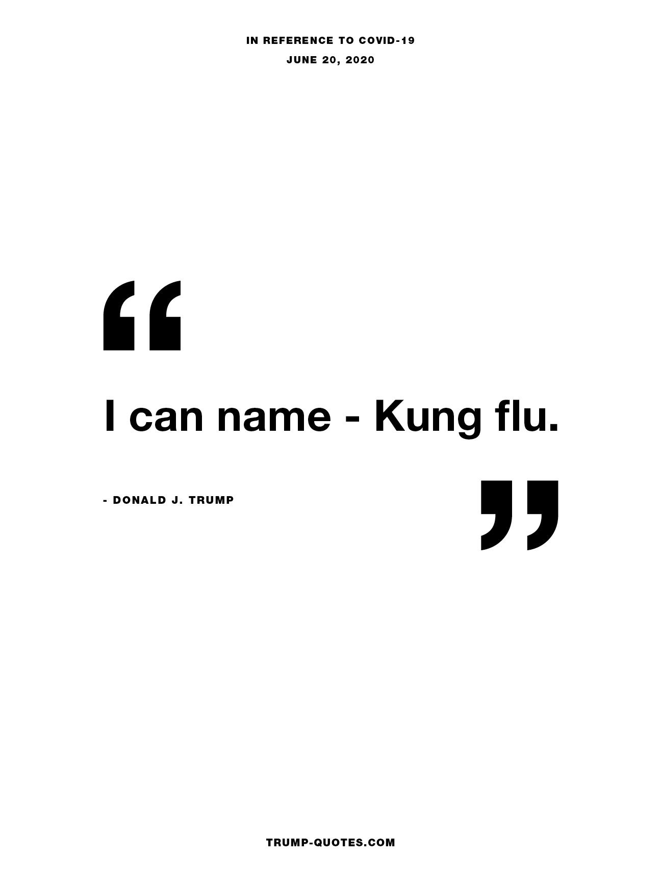 I can name - Kung flu.