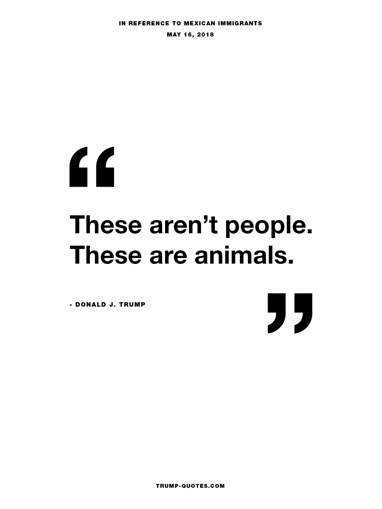These aren't people.  These are animals.