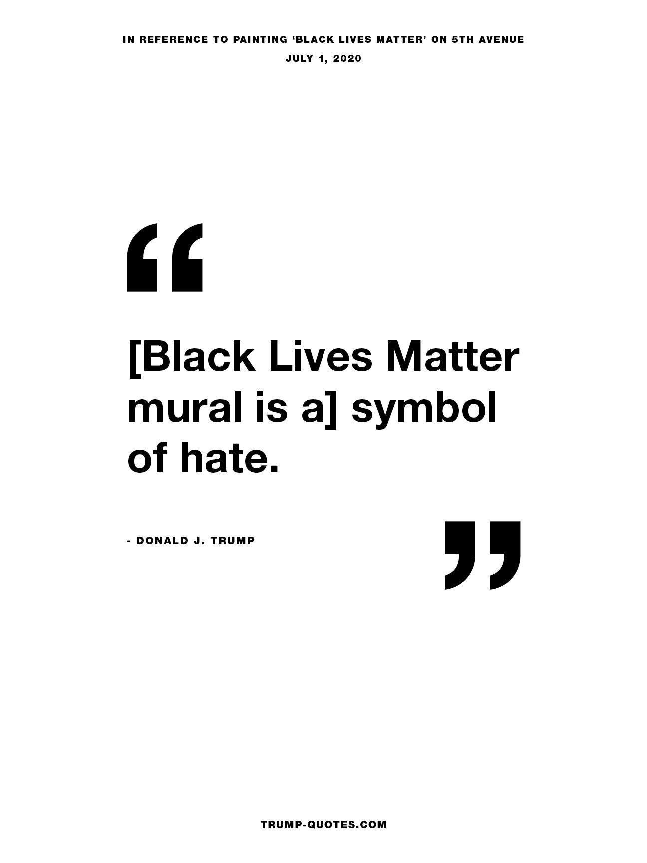 [Black Lives Matter  mural is a] symbol of hate.