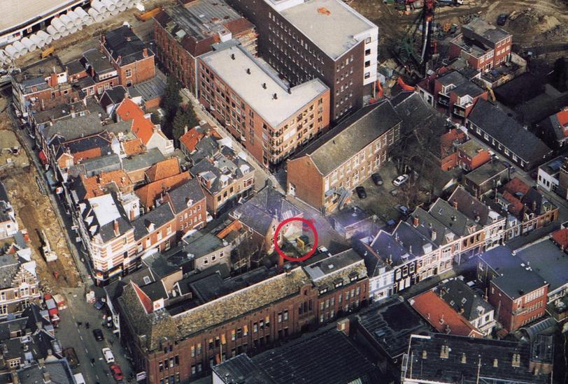 Aerial shot of neighborhood