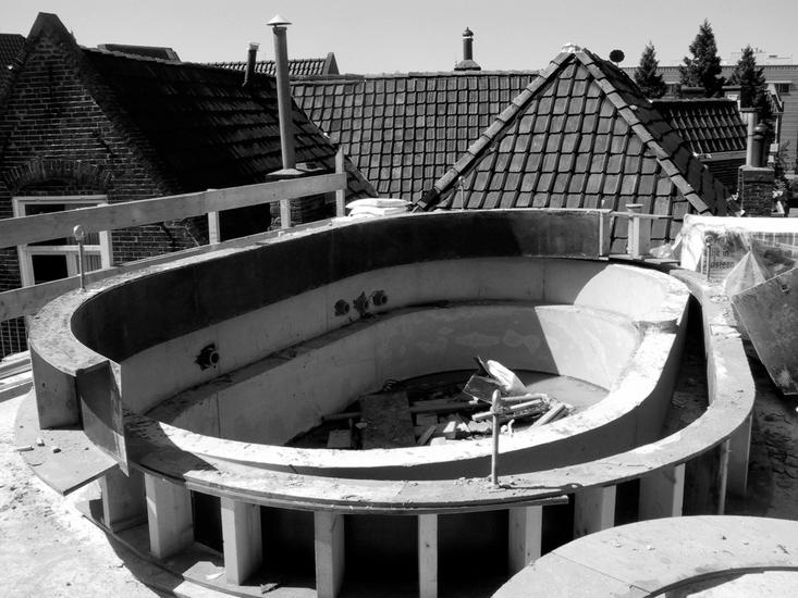 Photo of swimming pool being built