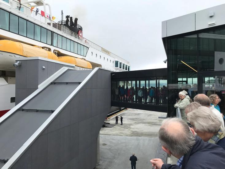 Pathway to Hurtigruten on the opening day