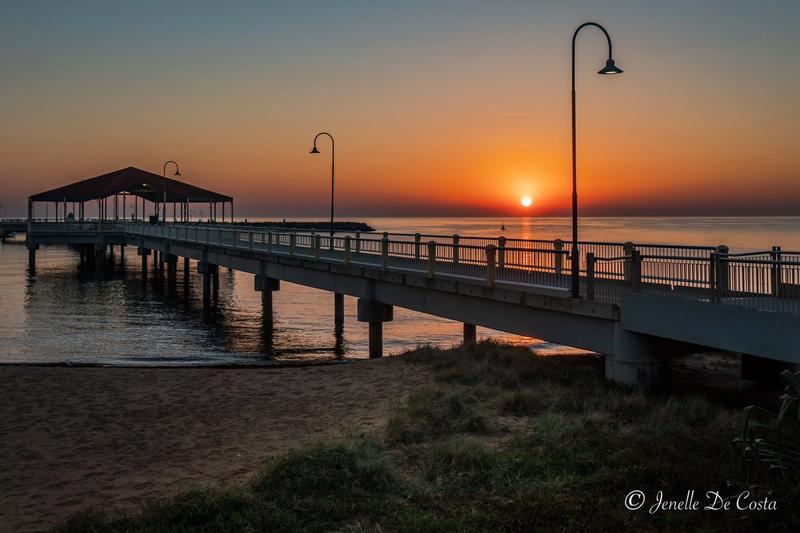 Sunrise over Redcliffe Jetty.