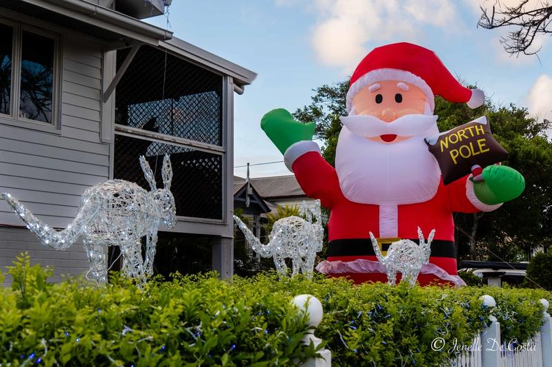 Santa looking for his aussie sleigh.