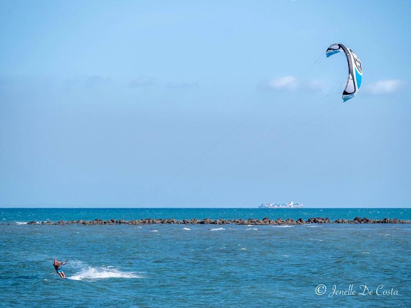 Windsurfer enjoying the late afternoon winds.
