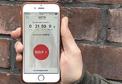HJELP I LOMMA: Slutta-appen for hjelp til snusslutt.