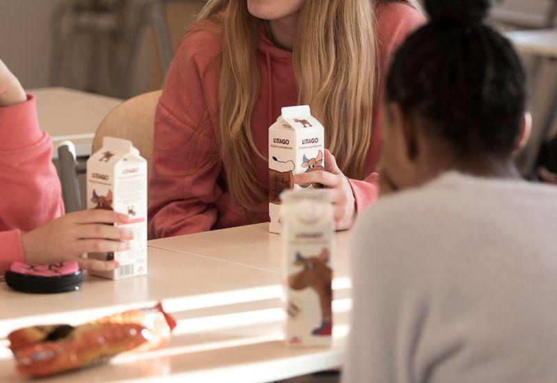Snakker sammen i kantina på skolen (colourbox.com)