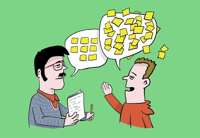 RYDDE: Det føles godt å prate med noen når du ikke har det greit eller trenger å rydde opp i tankene dine - enten det er stort eller smått. Illustrasjon: ung.no