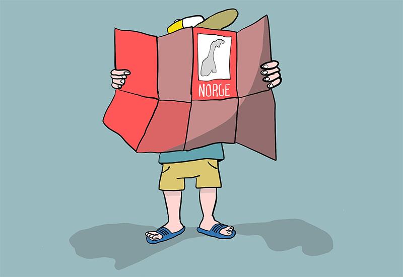 Tegning av gutt med norgeskart (ill: ung.no)