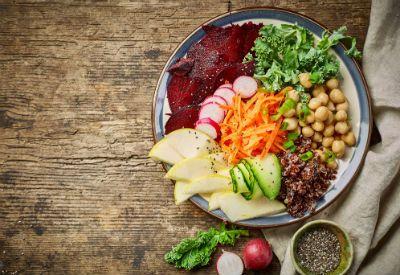 Tallerken med vegetarmat (colourbox.com)