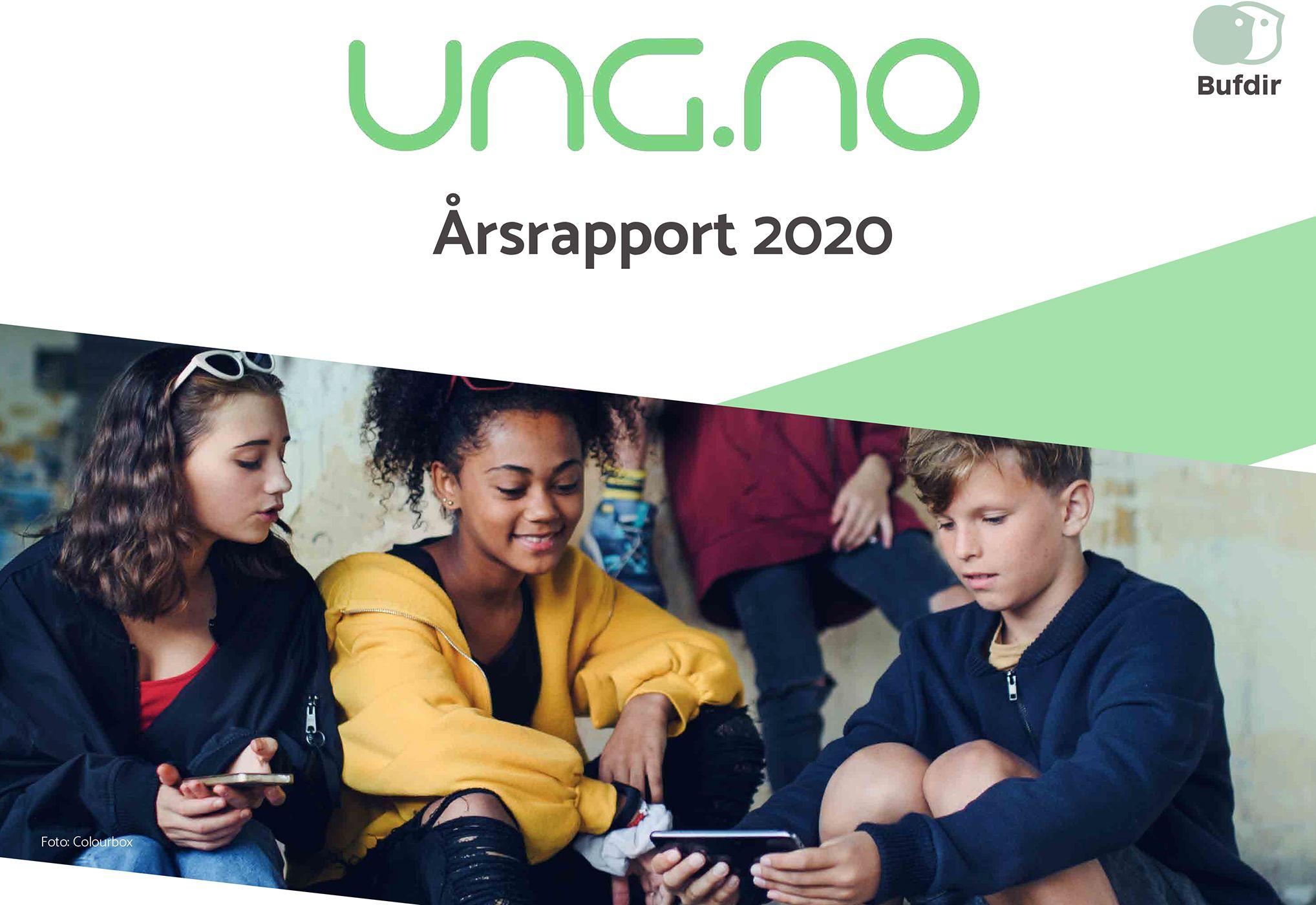 Forsiden på årsrapporten for ung.no for 2020.