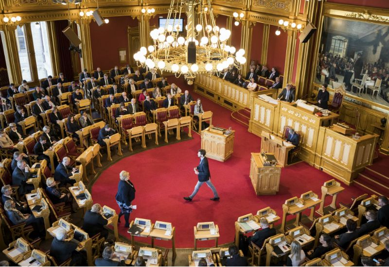 Debatt i Stortingssalen (foto:Stortinget)
