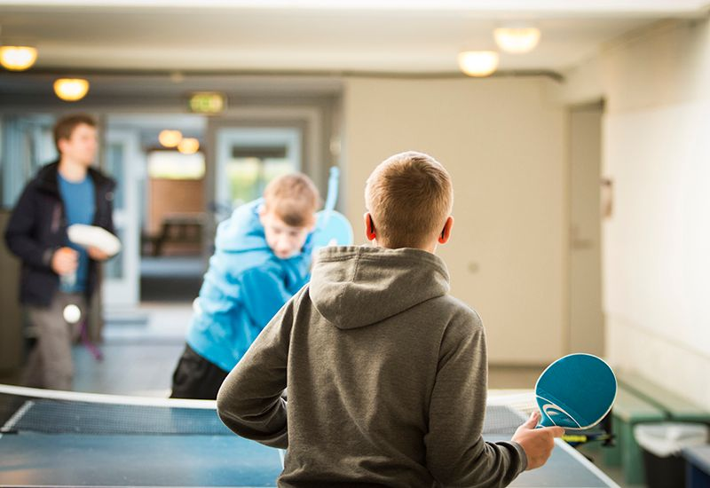 Spiller bordtennis på skolen (colourbox.com)