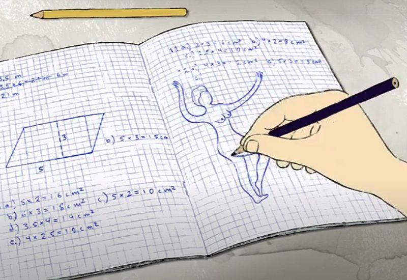 Tegner naken dame i skoleboka (rfsu.no)