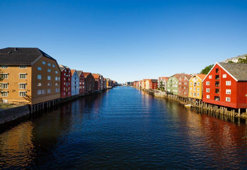 Bryggene i Trondheim (Colourbox.com)