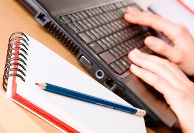 Skrive på PC (colourbox.com)