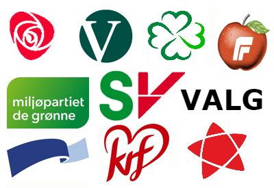 POLITISKE PARTIER: I Norge har vi en rekke politiske partier.